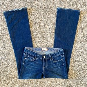 Paige Laurel Canyon Low-Rise Bootcut Jeans 27